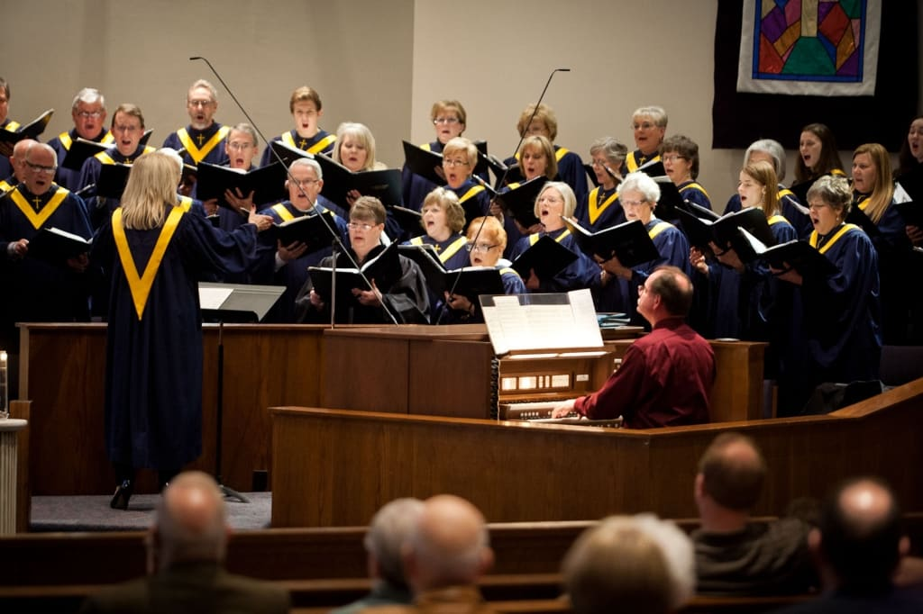 Choir performing during a service