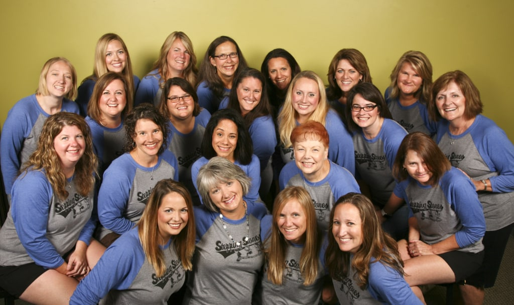 Womens Ministry photograph in matching T's