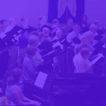 purple overlay choir graphic