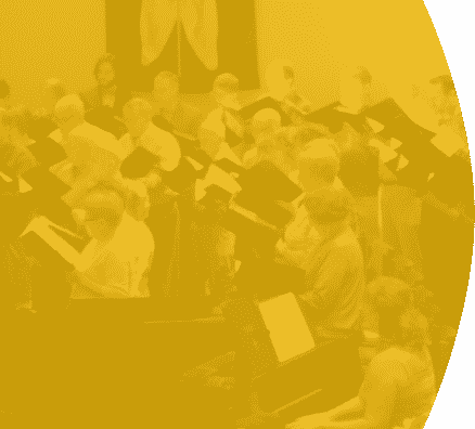 yellow overlay of choir singing graphic