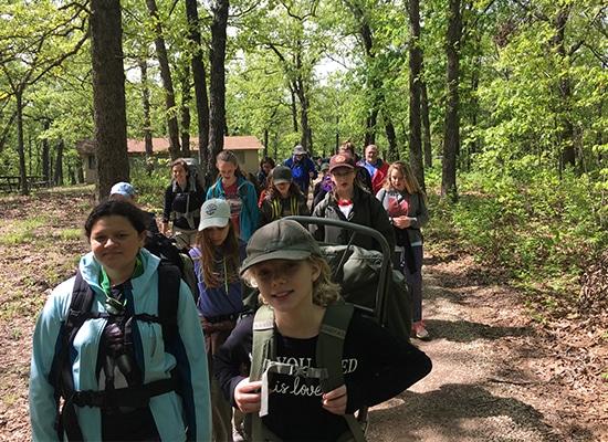 Hiking a trail together