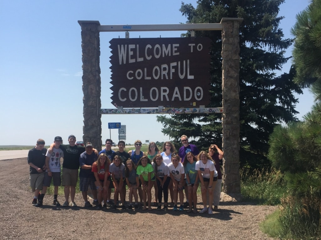 Famous Welcome To Colorado sign